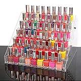 Zerone Expositor Acrilico, 6 Capas Organizador Cosmeticos Acrilico para Expositor Aceites Esenciales Cosméticos y Esmaltes de Uñas