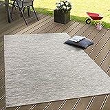 Paco Home in- & Outdoor Flachgewebe Teppich Terrassen Teppiche mit Farbverlauf in Beige, Grösse:160x220 cm