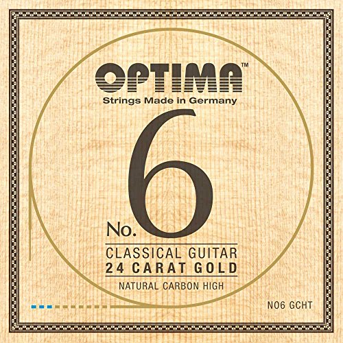 Optima No.6 Classical 24K GOLD Strings, Carbon Set (wound G3) - High Tension