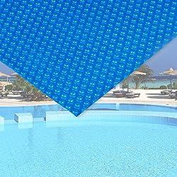 Bâche solaire à bulles pour piscine 5x8m Bleu Protection Couverture Chauffage de piscine