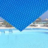 Wiltec Pool Solarfolie 5x8m blau Poolabdeckung Solarplane Poolheizung