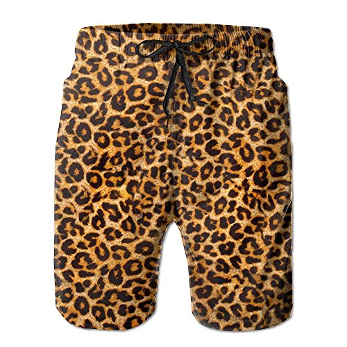 cleaer Boys Men's Leopard Summer Quick-Drying Swim-Trunk Shorts Pants Medium Glory Boys Jeans