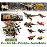 Siddhi VinayakJungle Animals Toys Set Plastic, Dinosaur Toys, Wild Animals Learning Toys And Party Favor Toys For Boys - Forest Dinosaurs Figures Playset For Kids