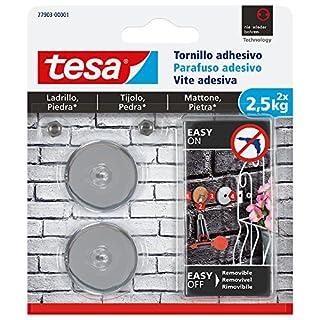 TESA 77903-00001-00 Tornillo adhesivo redondo para ladrillo y piedra 2,5 kg, Set de 2 Piezas (B01MCQKW1A)   Amazon Products