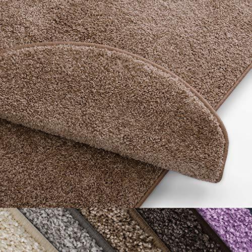 casa pura Teppich Läufer Uni beige   Qualitätsprodukt aus Deutschland   GUT Siegel   kombinierbar mit Stufenmatten   viele Größen (100 x 250cm) -