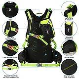 TOMSHOO 20L Fahrrad Rucksack, Multifunktionaler Wanderrucksack für Radfahren Outdoor Reiten Bergsteigen mit Regenschutzkappe - 4