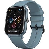 Amazfit Smartwatch GTS Farbdisplay Fitness Sportuhr 5 ATM wasserdicht mit GPS, Schrittzähler, Schlafmonitor, 12…