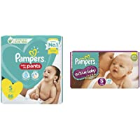 Pampers Diaper Pants, Small, 86 Count&Pampers Active Baby Diapers, Small, 46 Count