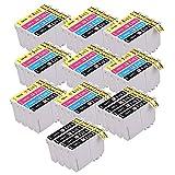40 Cartouches d'encre PerfectPrint compatibles pour Epson XP-102 XP-202 XP-212 XP-215 XP-205 XP-225 XP-30 XP-302 XP-305 XP-312 XP-315 XP-322 XP-325 XP-402 XP-412 XP-415 XP-405 XP-405WH XP-422 XP-425