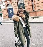 Xuanku Cord Star Modelle Parker Fell Pelz Liner Kragen Herbst Und Winter Frauen, S, Militär Grün Simulation Haar