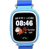 montre intelligente gps pour enfants, traceur de smartwatch gps pour enfant, supporte la carte sim gsm avec écran tactile app