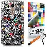 CASEiLIKE Graffiti 2709 Bumper Prima Híbrido Duro Protección Case Cover Funda Cascara for LG G3 +Protector de Pantalla +Plumas Stylus retráctil (Color al azar)