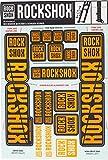 RockShox Aufklebersatz Neonorange, Boxxer/Domain Doppelkrone, 11.4318.003.517 Ersatzteile, Orange, 35mm Standrohre und Doppelbrücke