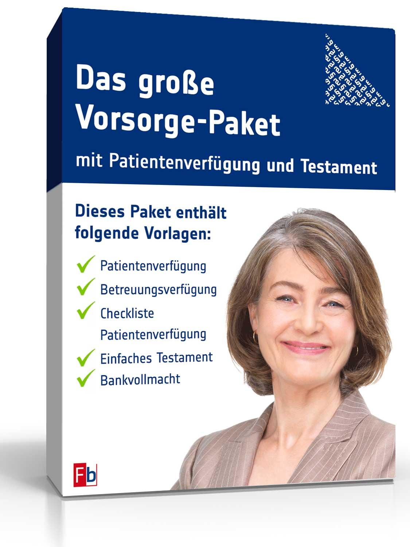 Das große Vorsorge-Paket mit Patientenverfügung und Testament - Über 20 lebenswichtige Dokumente [Download]