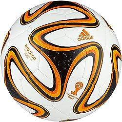 adidas Brazuca Glider Football, Size 5 (White/Orange)