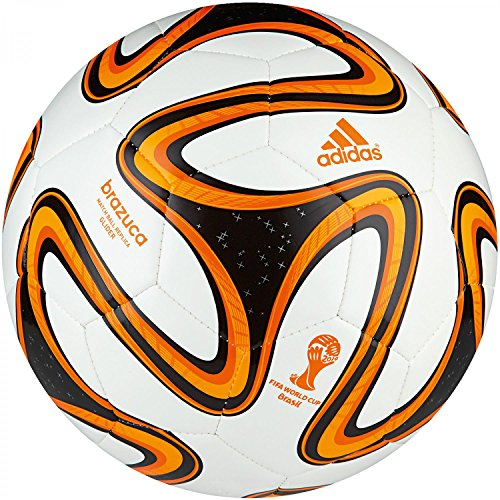 adidas Brazuca Glider Ballon de foot White/Black/Solar Zest Taille 3-5