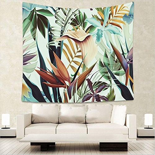 Kao0yan arazzo singolo in stile celtico, mandala decorazione per la casa, stile bohèmien, motivo mandala, pianta tropicale, 150x130cm