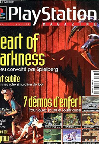 PLAYSTATION MAGAZINE - N°21 - JUIN 1998 / HEART OF DARKNESS, JEU CONVOITE PAR SPIELBERG - MORT SUBITE - NOM DE CODE SPYROW / 7 DEMOS D'ENFER! ETC....