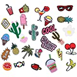 RYMALL 28 PC Patch Sticker, Cute DIY Ropa Parches para la camiseta Jeans Ropa Bolsas