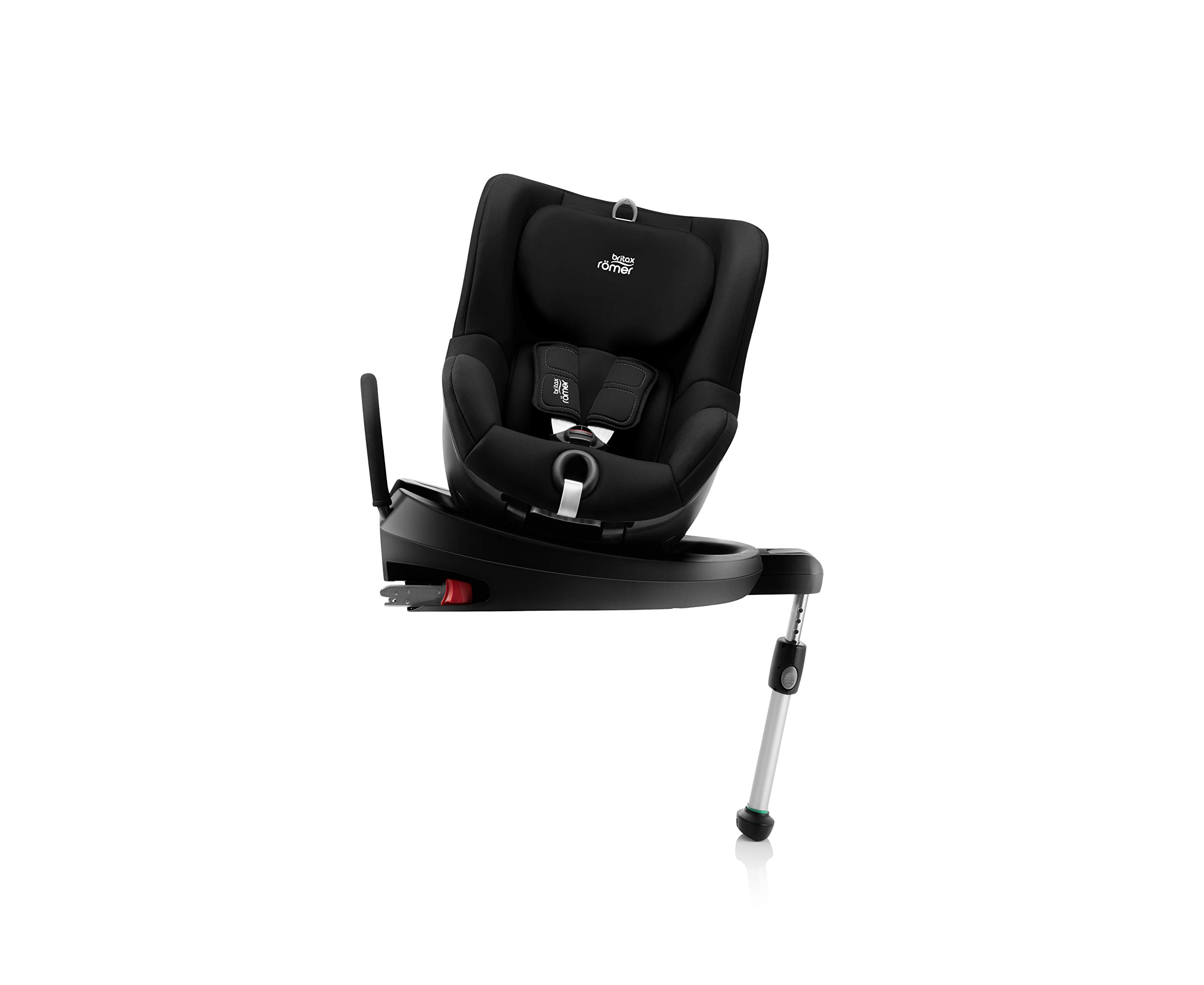 Britax Römer DUALFIX² R Group 0+1 (Birth-18 kg) Car Seat, Cosmos Black Britax Römer Intuitive 360° rotation for rearward and forward facing usage Easy entry with 90 degree rotation to the open door for easy placement of the child Extended rearward facing travel with more leg space thanks to shorter rebound bar 7