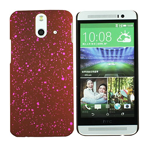 Heartly Night Sky Glitter Star 3D Printed Design Retro Color Armor Hard Bumper Back Case Cover For HTC One E8 Dual Sim - Burgundy Pink  available at amazon for Rs.129