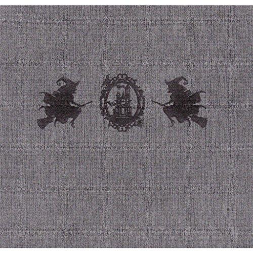 the napkins TND40.20.DG.H15 20 Plus 1 Deluxe Servietten, stoffähnlich, Halloween Edition, 40 x 40 cm, dunkelgrau mit Motivdruck