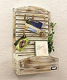 DanDiBo Wandorganzier Holz Vintage Memoboard mit Briefablage 65 cm YX-14B415 Pinnwand Memotafel Postbox