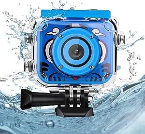 Welltop Kids Underwater Camera 1080p Hd Digital Photo Video Cameras Underwater Action Camera Rechargeable Action Camera Underwater Video Camera Waterproof Camera Birthday Gift Sport Freizeit