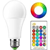 OurLeeme Cambio Color la Bombilla Regulable, E27 15W RGB 16 Colores Control Remoto Blanco frío Bombilla de Bajo Consumo para