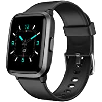 YAMAY Smartwatch, fitness wristwatch with blood pressure measuring devices, pulse oximeter, heart rate monitors ...