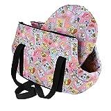 SODIAL(R) Bolsa de mano de hombro de transporte de viaje para pequenas mascotas pequeno gato pequeno...