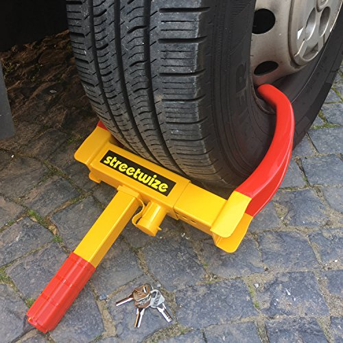 TierXXL Streetwize universal Radkralle Reifenkralle Parkkralle mit Sicherheitsschloss und 3 Schlüsseln (SWWL2) (16-zoll-lkw-felgen)