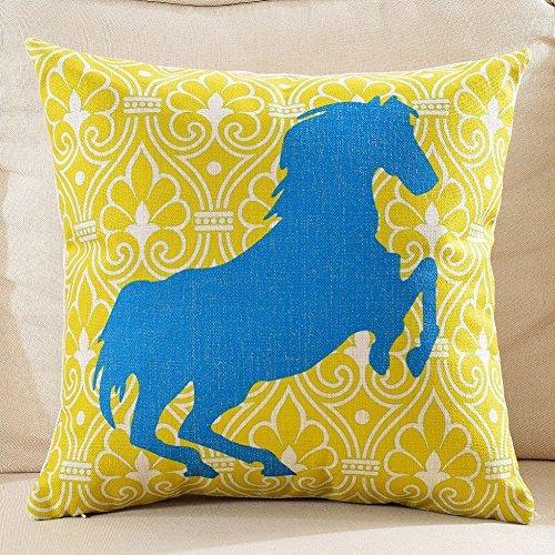 RllKY moderna geometria di spessore di biancheria in cotone cuscino divano,Giallo,55x55cm
