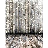 Fotohintergrund Fotografie Stoffhintergrund Stoff Hintergrund - Weißer Licht Spot Holzboden Bildhintergrund Backdrops Foto Props für Fotostudio - 0.9×1.5M