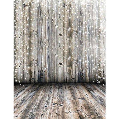 Fotohintergrund Fotografie Stoffhintergrund Stoff Hintergrund - Weißer Licht Spot Holzboden Bildhintergrund Backdrops Foto Props für Fotostudio - 0.9×1.5M (Ostern Foto Prop)