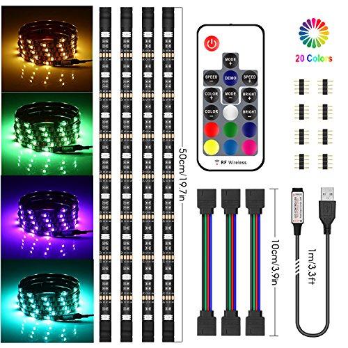 TV LED posteriore di illuminazion, Chesbung LED retroilluminazione TV RGB 5050, illuminazione bias USB 2M con 16 colori e 4 modalità dinamica per HDTV da 40 a 60 pollici, monitor PC, led strip light.