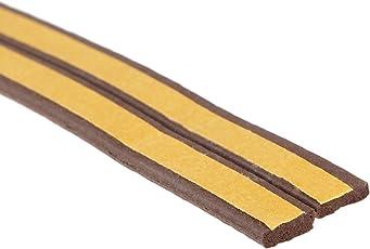 Stick&Seal Self-Adhesive Epdm Doors And Windows Draught Excluder Foam Seal Strip ,(Brown) ,6 Meter ( 2 X 3 M = 6 Meter)
