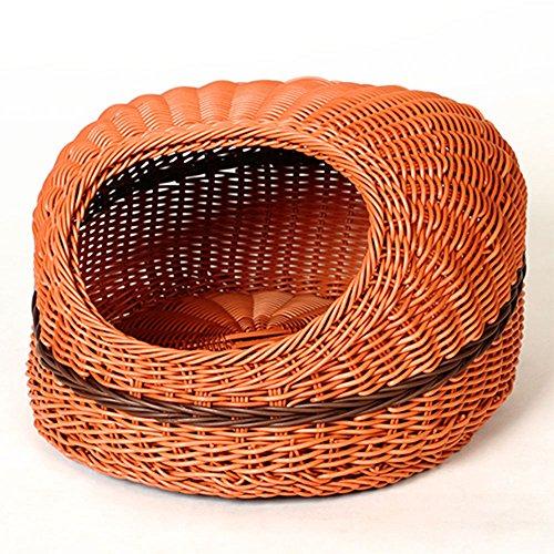 Rattan Spring And Summer Chien Chien Rattan Nest Cat Nest, Deux Couleurs Sont Disponibles ( Couleur : A )