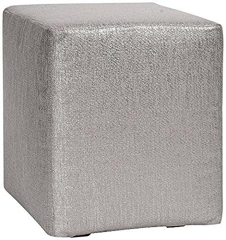 Howard Elliott 128-237 Universal Cube Ottoman, Glam Pewter