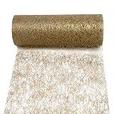 Ruban intissé, ruban de table 23cm-20m, Go-Si/Top prix., Non-tissé, or, 23cm breit