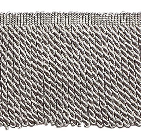 15,2cm de long Gris Bullion Fringe Trim, Basic Trim Collection, style # Bfs6Couleur: Gris argenté–049, vendu au mètre