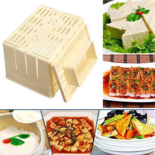 GEZICHTA Tofu Presser, Tofu Press Stampista Scatola plastica PP Cagliata di soia Il Pane, Tofu Stampista Kit, Formaggio Panno di soia DIY premendo Muffa Utensili da Cucina