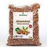 Almendras Crudas Peladas 1kg – Sin Sal Con Piel - 100 % Natural y Entera - de Origen Nacional mas Sabrosa – Calidad Premium -