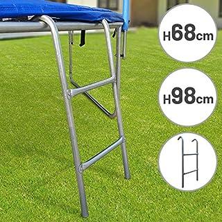 Physionics Trampolin Leiter   (L/B): ca. 98/38 cm, 2 Breiten Stufen   Zubehör für Gartentrampoline, Sicherheitsleiter, Einstiegsleiter, Trampolineinstieg