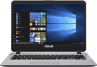 Asus F407UA 90NB0HP1-M03280 35,5 cm (14 Zoll, Full-HD, matt) Notebook (Intel Core i5-7200U, 8GB RAM, 256GB SSD, Intel HD Graphics, Windows 10) grau