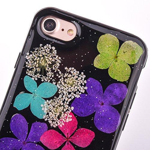 "iPhone 7Plus Handyhülle, CLTPY iPhone 7Plus Transparent Klare 3D Motiv Fall, [Ultra Hybrid] Echte Getrocknete Blumen Series Etui, Dünne Stoßfest Gummi Case für 5.5"" Apple iPhone 7Plus (Nicht iPhone 7) Floral 11"