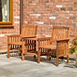 Kingfisher FSLOVE Hardwood Love Seat - Wood
