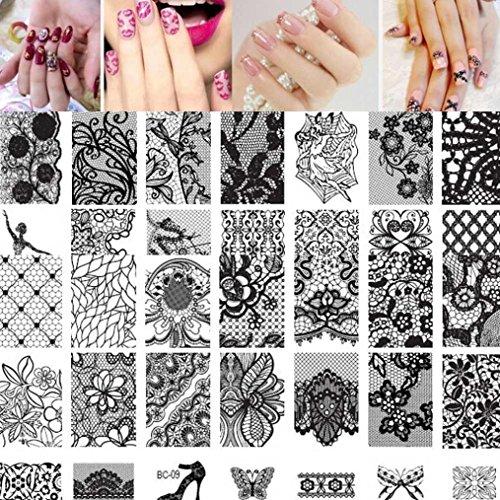 Nail Art Stamping Plates Oyedens Mujer 10pcs UñA Arte Nail Estampa Placa De La Imagen Imprimir Clavo De La Plantilla Del Arte Nail Stamping 6cm*12cm