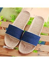 Ropa para hombres zapatillas de casa de verano antideslizante casa fondo grueso par a casa verano damas Cool zapatillas verano,Cuarenta y dos,Azul profundo