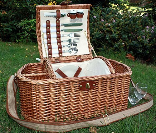 Home-ever Deluxe 2Personen Picknick-Korb
